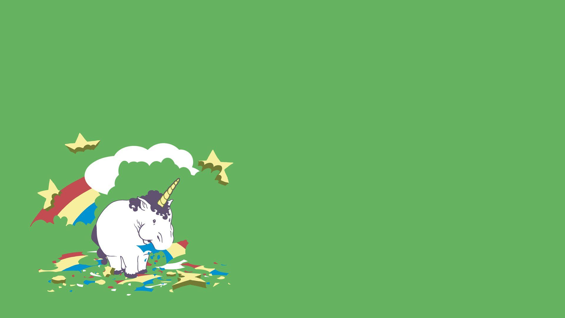unicorn cartoon wallpaper