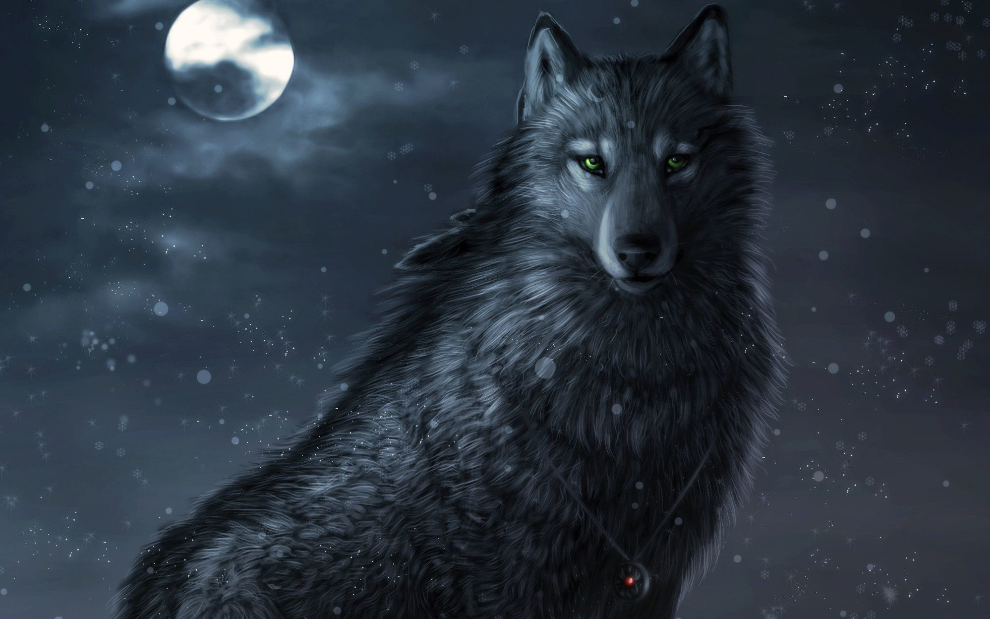 black wolf backgrounds