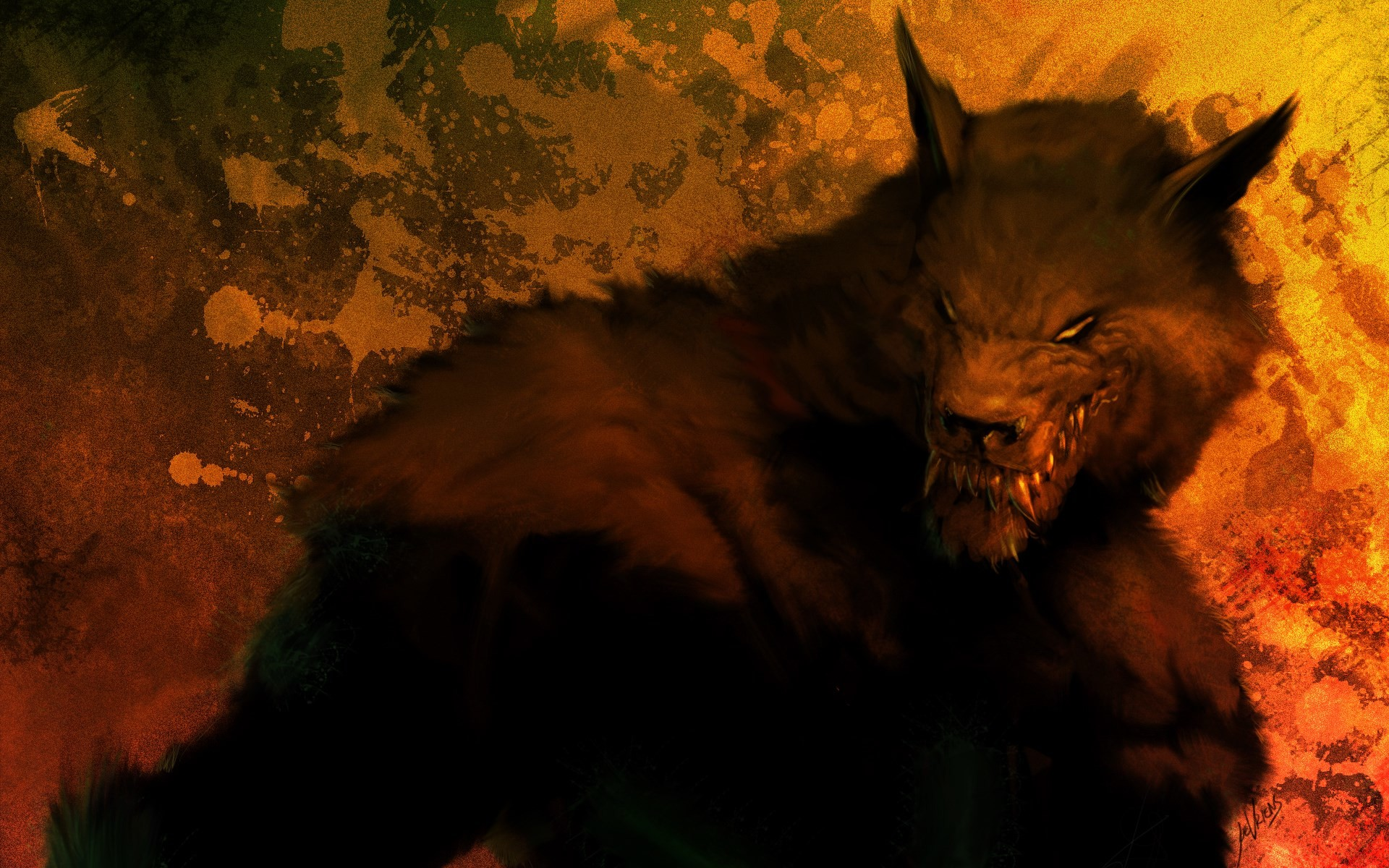 cool werewolf wallpapers