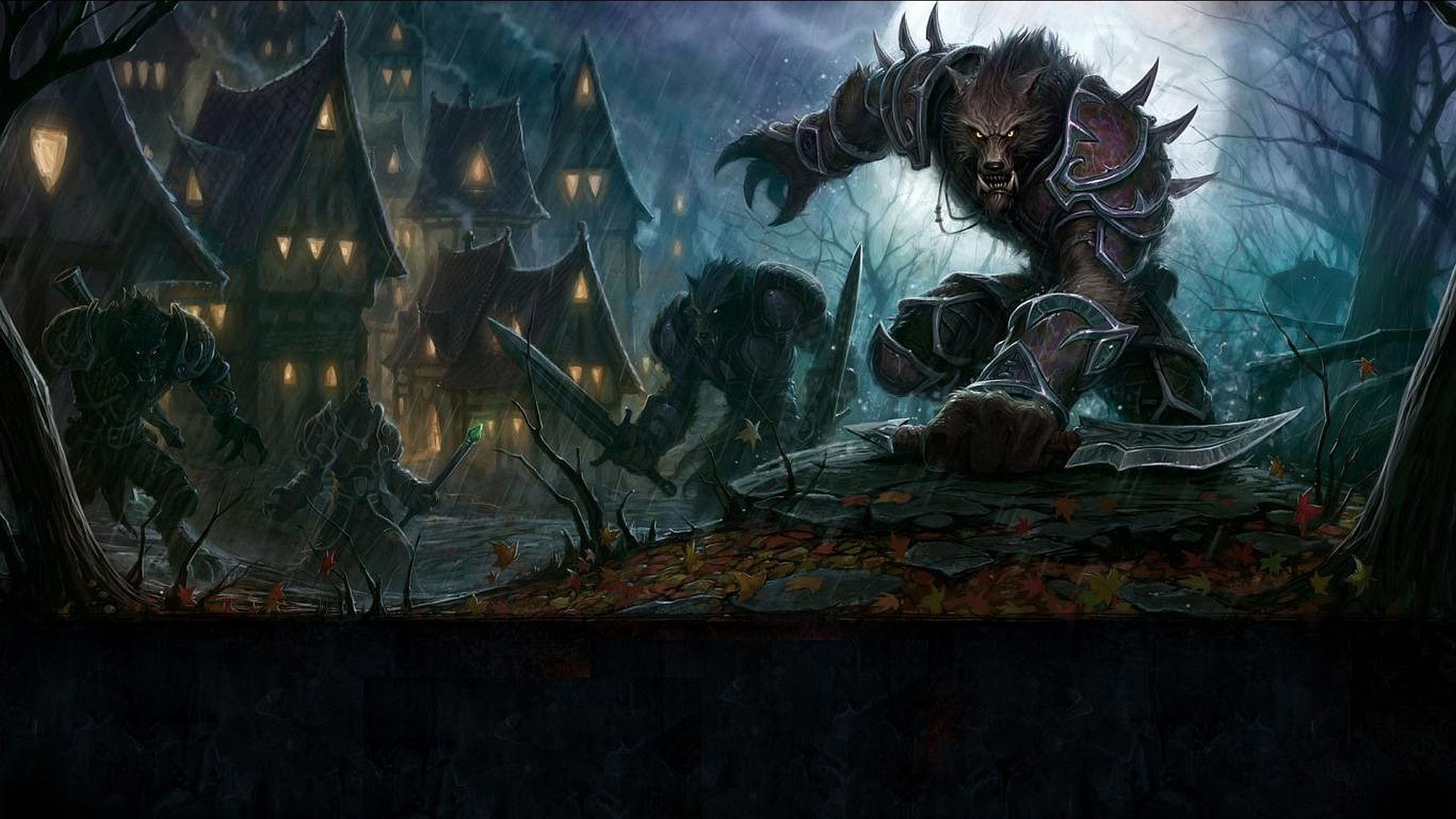 scary werewolf wallpaper