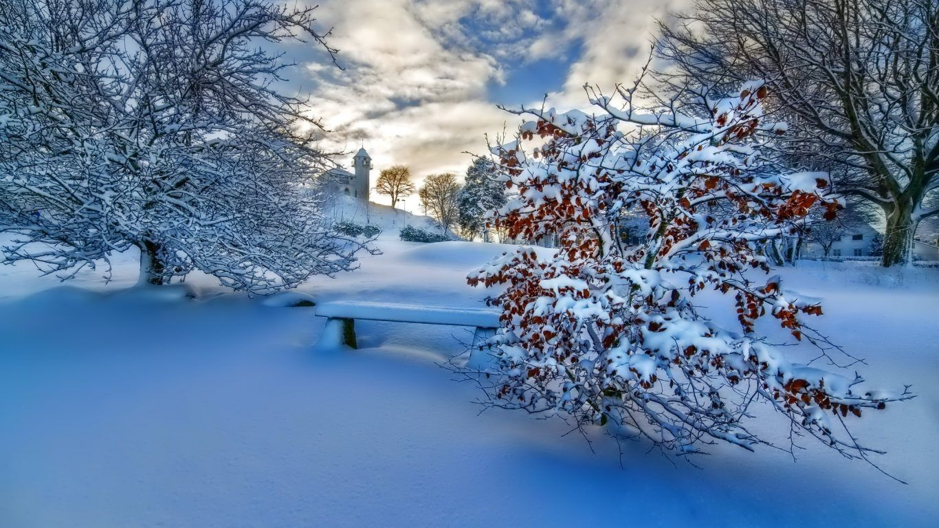 snow scenery wallpaper
