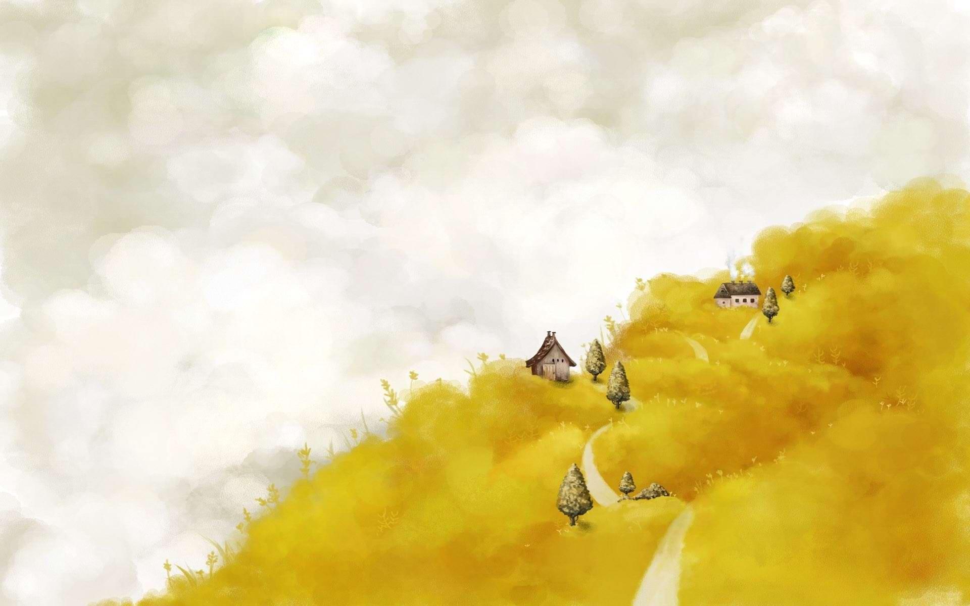 yellow aesthetic wallpaper desktop