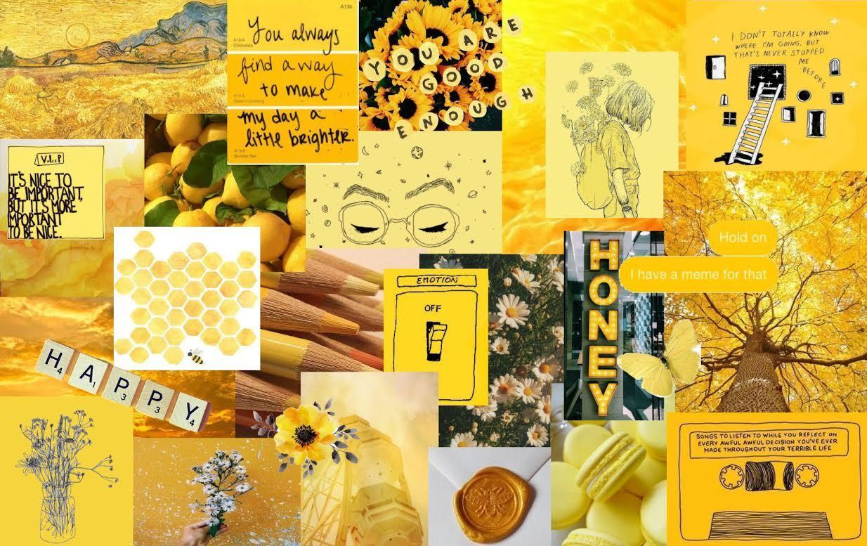 yellow aesthetic wallpaper honey