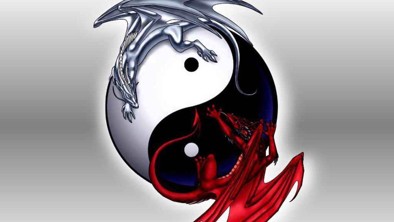 yin and yang coy fish, wallpapers yin yang