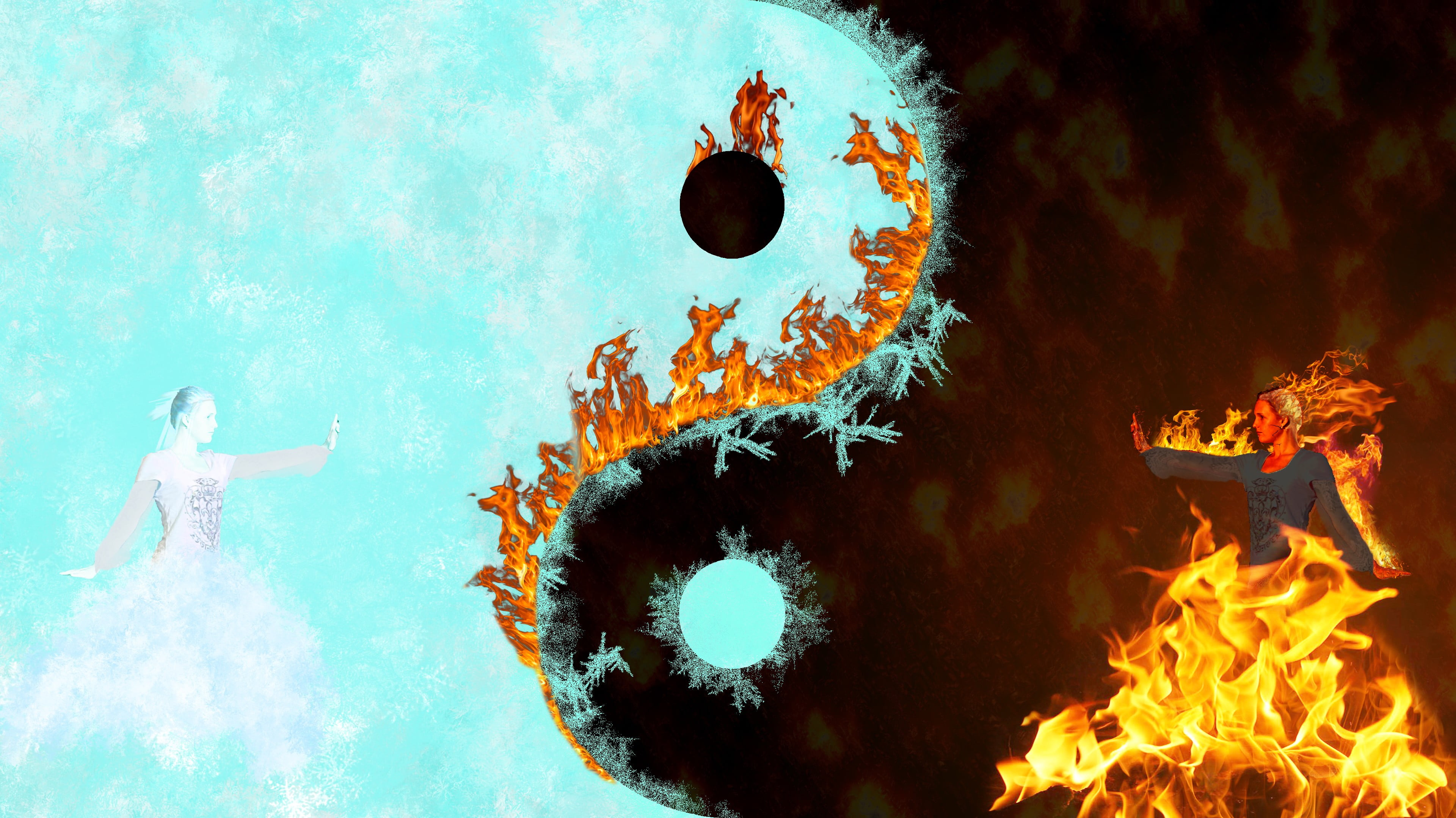 ying yang pics, tiger and dragon wallpaper