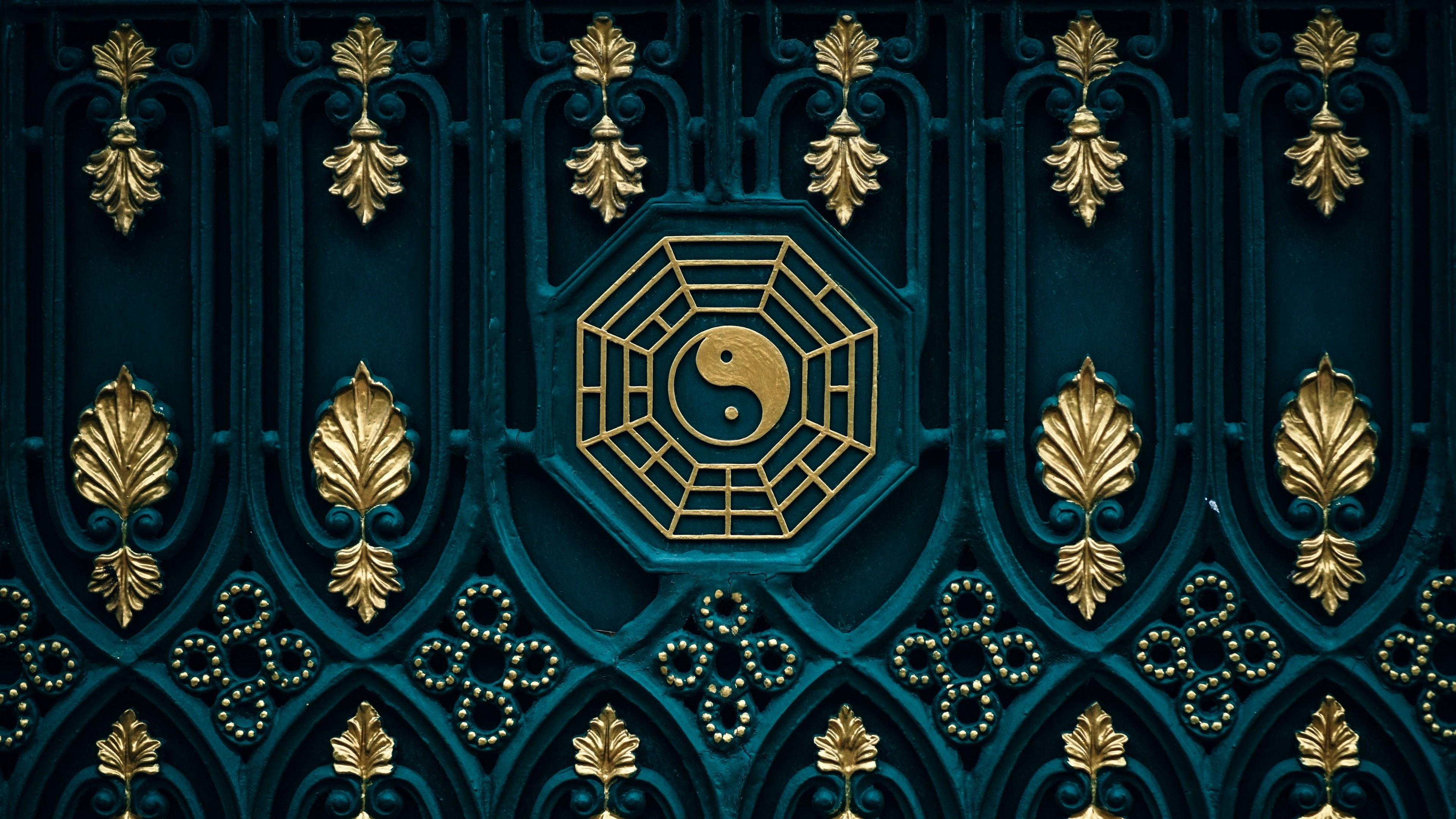 dragon yin yang wallpaper, ying yang image