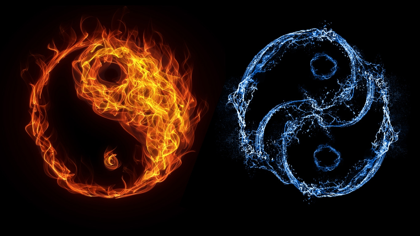 cool yin yang backgrounds