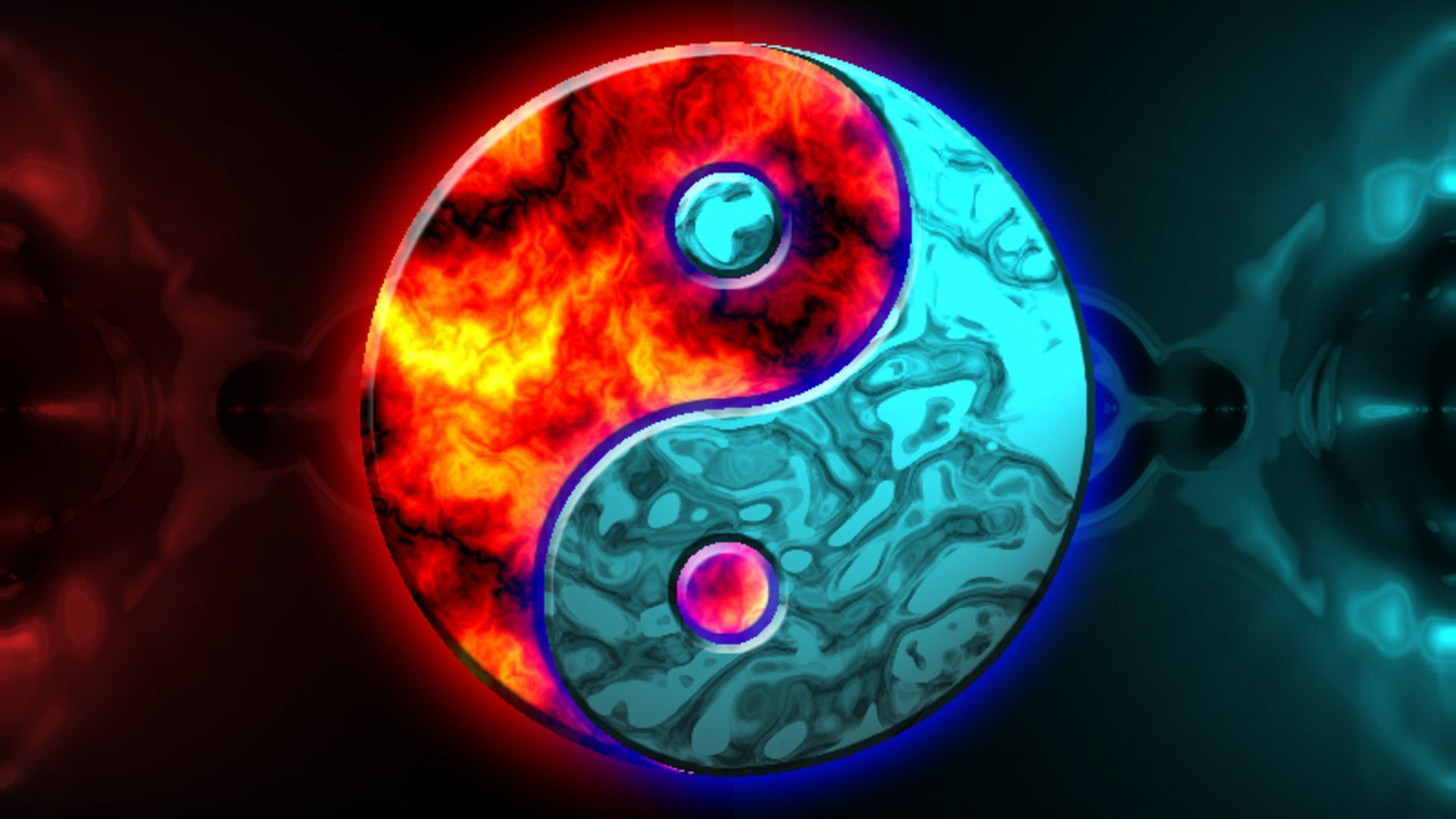 cool yin yang wallpaper